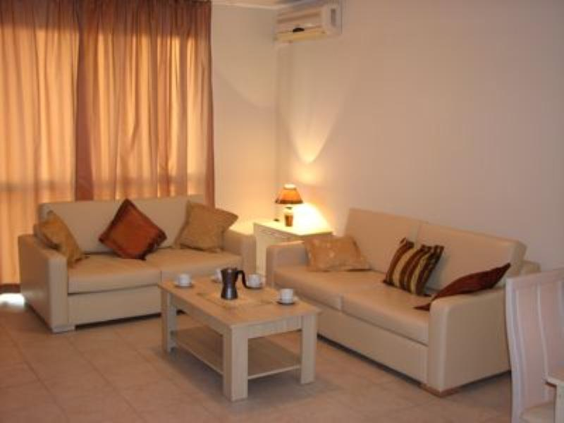 Apartment in Bulgaria, Nessebar: Leather sofa and sofabed equipped with DVD
