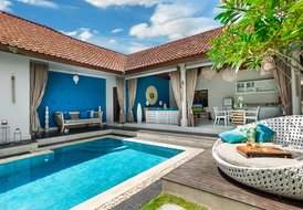Cool and cosy villa Sea. 4s villas at Seminyak square