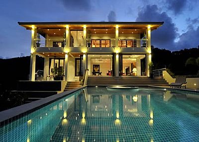 Villa in Thailand, Rawai: Villa at Night