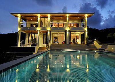 Villa in Thailand, Rawai: Villa at Night