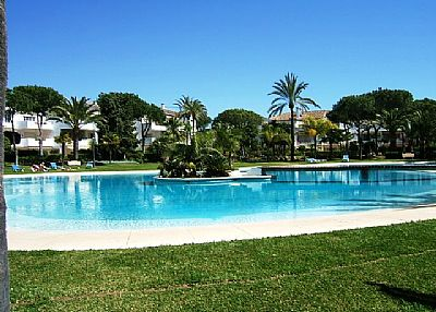 Apartment in Spain, Estepona-Cancelada: Main pool area, one of five pools on El Presidente!!
