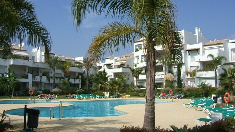 Apartment in Spain, Estepona-Cancelada: Swimming Pool and Garden Area