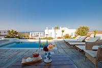 Villa in Greece, Vourvoulos: Skiron Guesthouse - View from the pool