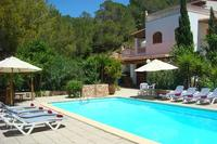 Villa in Spain, Ibiza: Pool Area with sunloungers and outdoor seating
