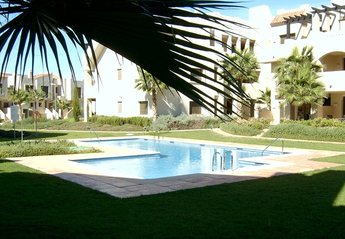 Apartment in Spain, Roda Golf Resort: Pool & Gardens just outside the apartment