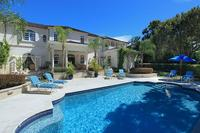 Villa in Barbados, St. James: Large pool and deck with sun loungers at Saramanda