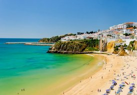 Apartment in Albufeira, Algarve: Fishermans Beach View from Our End