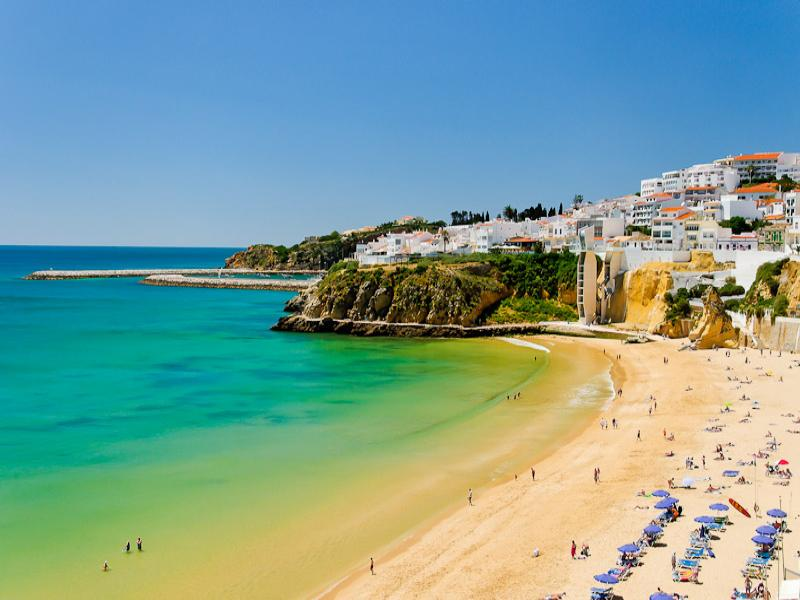 Apartment in Portugal, Albufeira old town: Fishermans Beach View from Our End