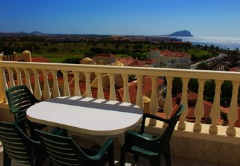 Apartment in Spain, Golf del Sur: Lovely views from the sunny balcony