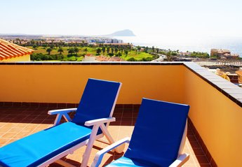Apartment in Spain, Golf del Sur: Lovely sunny private roof terrace with wonderful views