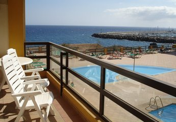 Apartment in Spain, Golf del Sur: Wonderful viiews from the sunny balcony