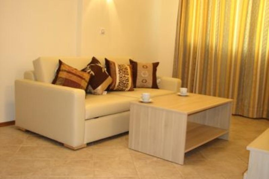 Apartment in Bulgaria, Sunny Beach: Lounge area with Leather Sofa-bed and DVD player