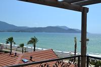 Apartment in Turkey, Calis Beach: Stunning beach from location, A17 lving room balcony views