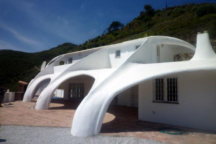 Villa in Spain, Arenas: Unique Spray Concrete Construction