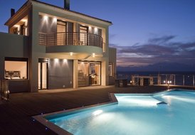 Luxury sea front villa close to beaches in Chania
