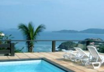 Villa in Brazil, Ferradurinha: Fantastic view to the ocean and beaches