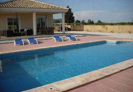 Villa in Caravaca de la Cruz, Spain: Terrace & 10m x 5m private pool