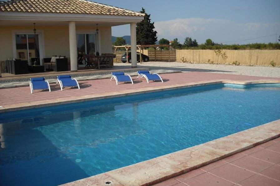Villa in Spain, Caravaca de la Cruz: Terrace & 10m x 5m private pool