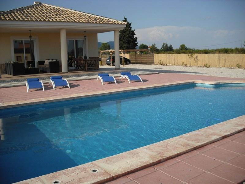 Villa in Spain, Caravaca De La Cruz: Terrace & 10m x 5m private pool