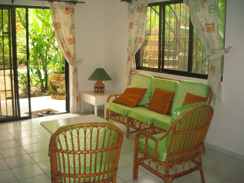 Apartment in Dominican Republic, CABARETE: Living area looking out