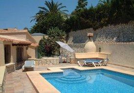 Bungalow in Paitxi, Spain: Secluded private use swimming pool at back of villa