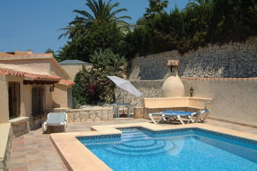 Bungalow in Spain, Paitxi: Secluded private use swimming pool at back of villa
