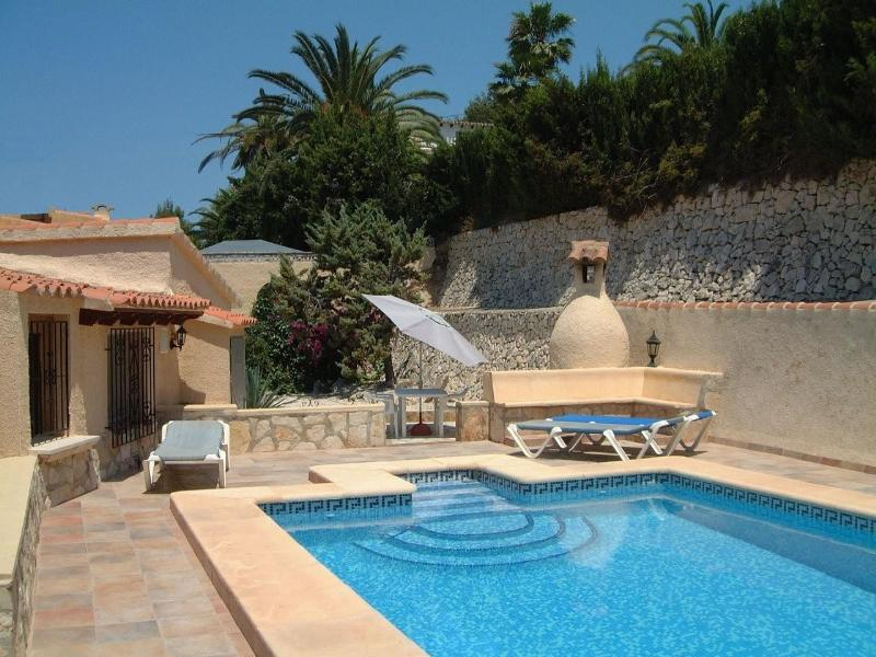 Villa in Spain, Paixi: Secluded private use swimming pool at back of villa