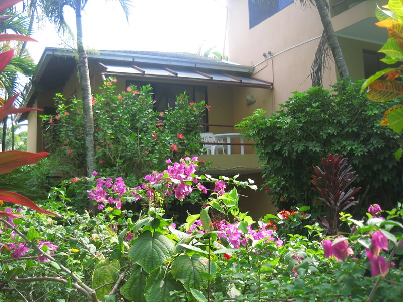 Apartment in Dominican Republic, CABARETE: Balcony from the communal garden