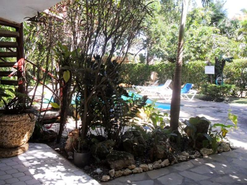 Apartment in Dominican Republic, CABARETE: Looking out to the communal pool