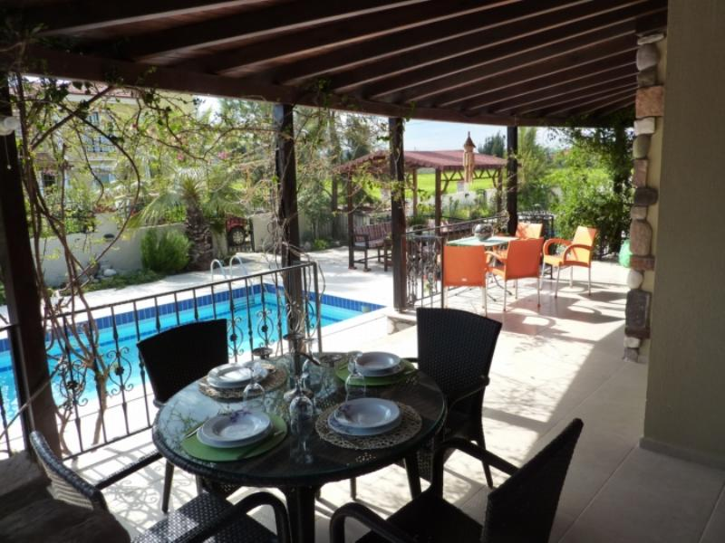Villa in Turkey, Dalaman: Large covered terrace with BBQ