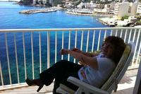 Apartment in Spain, Palma de Majorca: At ease on our wonderful balcony