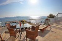 Apartment in Croatia, Diklo: sea view on terace
