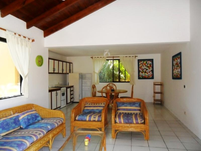 Apartment in Dominican Republic, CABARETE: Living area with vaulted ceiling