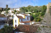 House in Portugal, Óbidos: View of the house from the castle wall