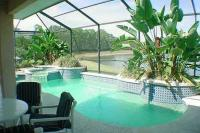 Villa in USA, Sunset Lakes: Pool and Spa Overlooking Lake
