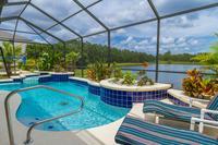 Villa in USA, Sunset Lakes: Pool Area overlooking the lake