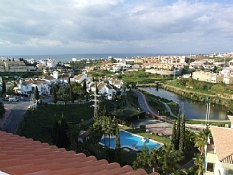 Penthouse apartment in Spain, Mijas Costa: View from balcony