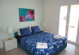 House in Euboea, Greece: Main bedroom with sea view / south facing