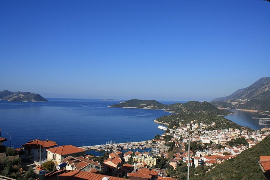 Villa Colonia, Appartement with best sea view over Kas