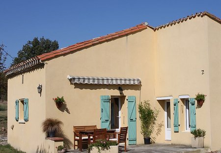 House in Pech-Luna, the South of France: LOstalet front view