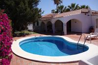 Villa in Spain, Amarilla Golf: poolsite with porch and loan
