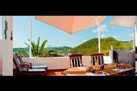 Villa in Spain, Ibiza: terrace with sea and beach views