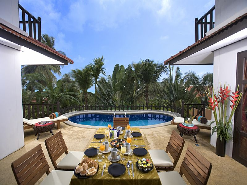 Villa in Thailand, Choeng Mon: Breakfast served in Pool Patio