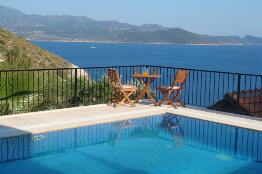 Villa in Turkey, Kaş: View from the pool