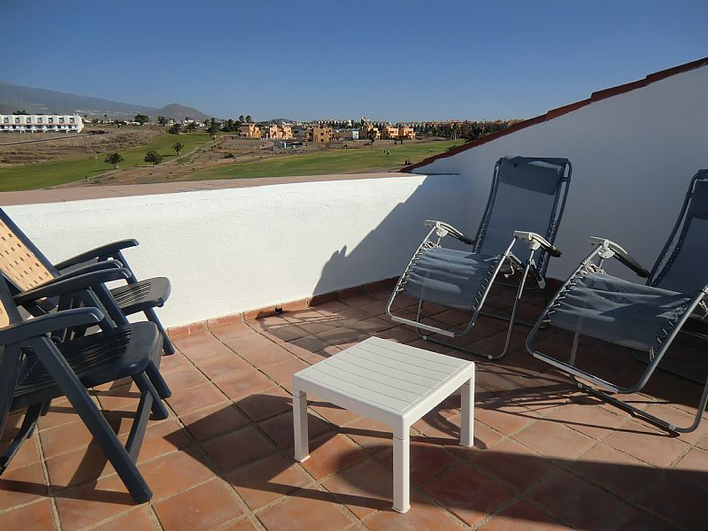 Apartment in Spain, Amarilla Golf: Lovely sunny private roof terrace