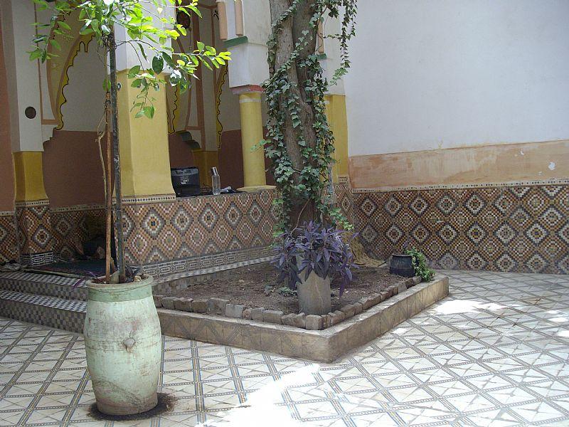Riad in Morocco, Medina: little garden