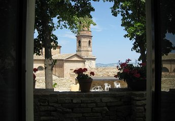 Village House in Italy, Montalto delle Marche: View from the bedroom of Il Teatro