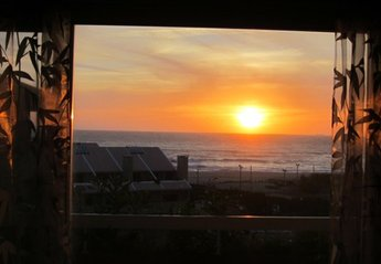 Penthouse Apartment in Portugal, Oporto Coast: Sunset in the Living-Dining Room. Incredible Sunset..
