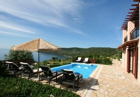 Seafront Villa EVA (8+2),2 floors,pool, 15% FIRST MINUTE discount