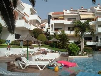 Apartment in Spain, Los Cristianos: cristian pool and sun deck